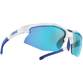 Bliz Hybrid M12 Brille für schmale Gesichter white/smoke with blue multi